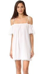 Milly Eden Off Shoulder Cover Up White