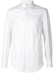 Brunello Cucinelli Button Down Collar Shirt White