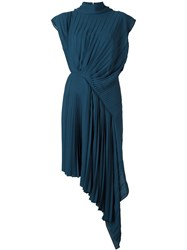 Maison Martin Margiela Maison Margiela Sun Pleated Dress Blue