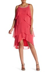 Si Fashions Embellished Ruffle Dress Plus Size Pink