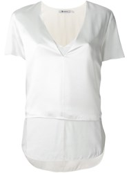 Alexander Wang T By Layered Shortsleeved Top White