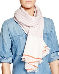 Fraas Mini Stripe Scarf Pink Orange