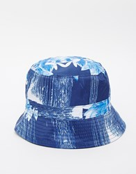 Hype Floral Drips Bucket Hat Blue