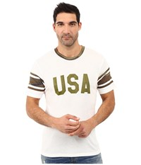Alternative Apparel Eco Jersey Touchdown Tee Usa Print Eco Ivory Men's T Shirt White