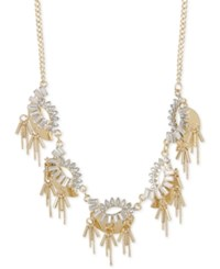 Inc International Concepts Gold Tone Crystal Baguette Statement Necklace Only At Macy's