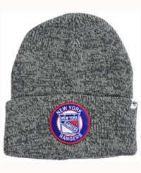 47 Brand '47 New York Rangers Ice Chip Cuff Knit Hat Heather Brown