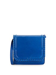 Dannijo Lypton Laced Leather Crossbody Bag Blue