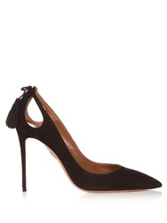 Aquazzura Forever Marilyn Suede Pumps Black