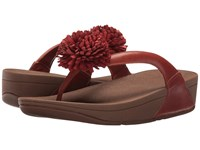 Fitflop Flowerball Leather Toe Post Dark Tan Women's Sandals Brown