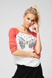 Free People Womens Butterfly Kisses Tee