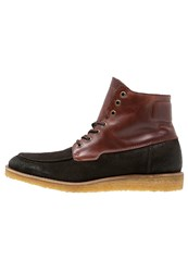 Marc O'polo Laceup Boots Dark Brown