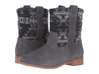 Toms Laurel Boot Castlerock Grey Suede Tribal Wool Women's Pull On Boots Gray