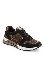 Bcbgmaxazria Animal Print Lace Up Sneakers Leopard