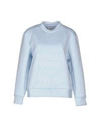 Wood Wood Woodwood Topwear Sweatshirts Women Sky Blue