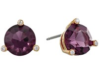 Kate Spade Rise And Shine Small Studs Earrings Amethyst Earring Purple