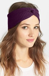 Echo 'Twisted' Head Wrap Purple Boysenberry