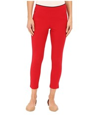 Hue Polished Twill Capris Tango Red Women's Capri