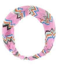 Missoni Mare Crochet Knit Hairband Pink