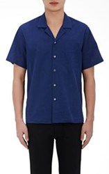 Acne Studios Ody Button Front Shirt Blue