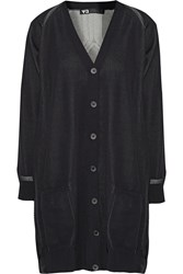 Y 3 Two Tone Knitted Cardigan Black