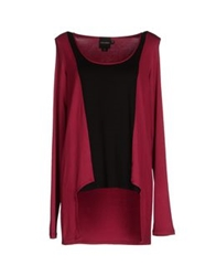 Paolo Errico Long Sleeve T Shirts Garnet