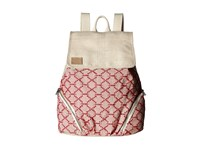Toms Multi Cross Stitch Mix Backpack Medium Red Backpack Bags