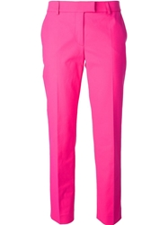 Moschino Cheap And Chic Cropped Trousers Pink And Purple