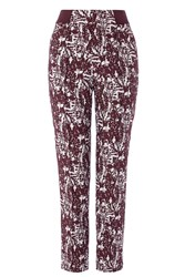 Coast Sawyer Jacquard Trousers Wine