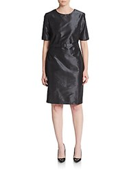Pauw Silk Shift Dress Anthracite