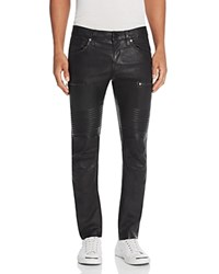J Brand Acrux Moto Slim Fit Leather Pants Black
