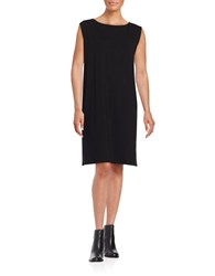 Eileen Fisher Solid Relaxed Fit Dress Black