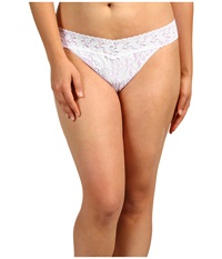 Hanky Panky Plus Size Signature Lace Original Rise Thong White Women's Underwear