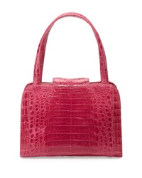 Nancy Gonzalez Rounded Crocodile Satchel Bag Fuchsia