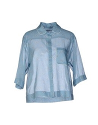 M.Grifoni Denim Shirts Sky Blue