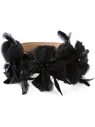 Matthew Williamson Feather Flower Belt Black