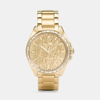 Coach Tristen Foil Dial Gold Plated Bracelet Watch