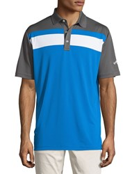 Callaway Colorblock Short Sleeve Polo Shirt Magnetic Blue
