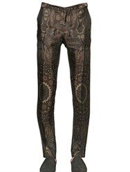 Etro 18Cm Viscose And Silk Jacquard Pants