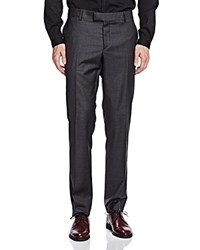 The Kooples Sleek Slim Fit Suit Trousers Gray