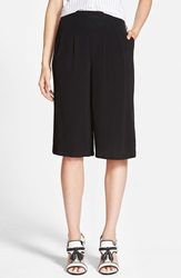 Minkpink 'All The Way' Pleated Culottes Black