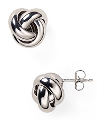 Nancy B Sterling Silver Love Knot Stud Earrings