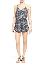 Junior Women's Bp. Print Romper Black Multi Palm