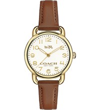 Coach 14502248 Dalaney Gold Plated Stainless Steel And Leather Watch