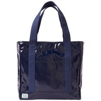 Toms Shiny Canvas Tote Bag Navy