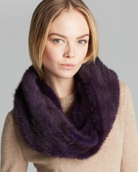 Maximilian Knitted Mink Infinity Scarf Acai