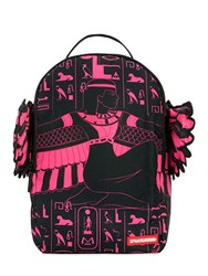 Sprayground Pink Goddess Printed Backpack With Wings