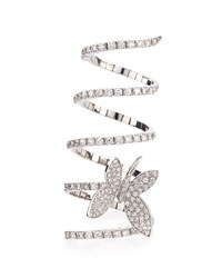 Magic Snake Diamond Butterfly Ring White Staurino Fratelli