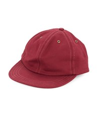 Brooks Brothers Oxford Cotton Baseball Hat Red