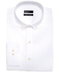 Bar Iii Carnaby Collection Slim Fit White Lightweight Oxford Dress Shirt