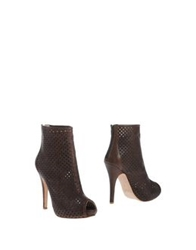 Le Crown Ankle Boots Dark Brown